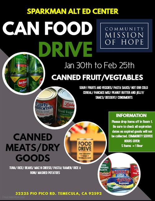 CAN FOOD DRIVE FLIER