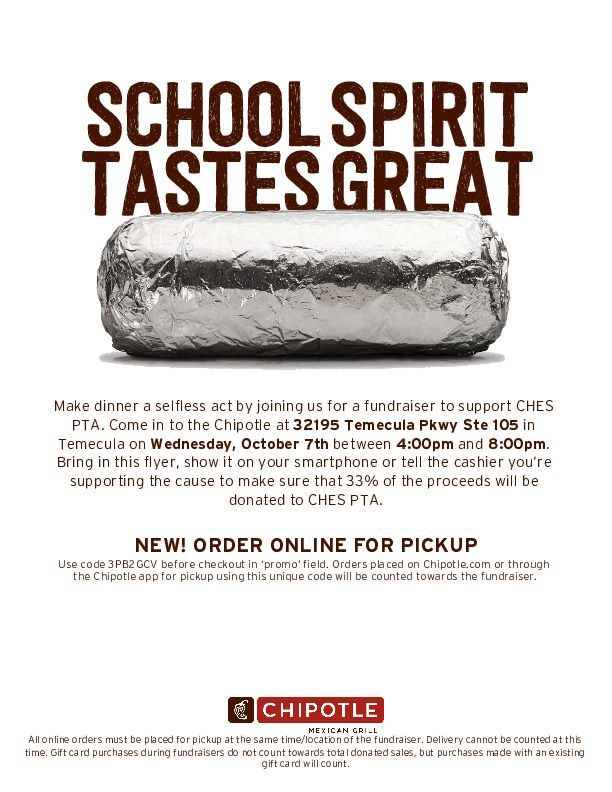 CHES Chipotle Night- 10/7