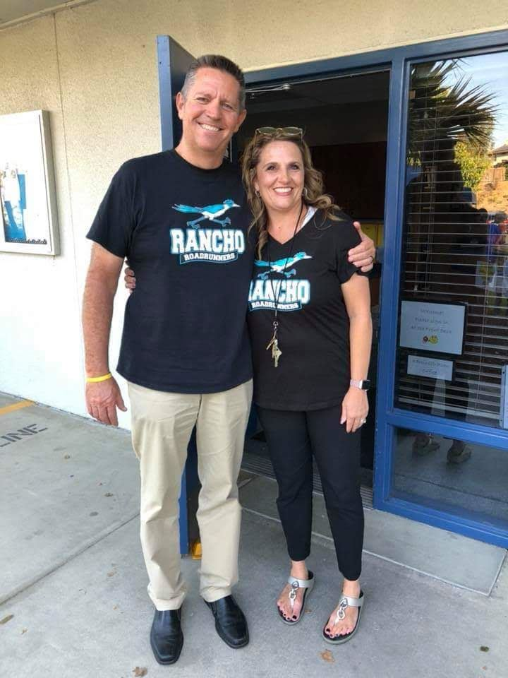 Principal Dignan and Assistant Principal Waddell welcome families to Rancho.