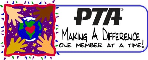 Join PTA with four childrens hands reaching out to the earth with a heart in the middle