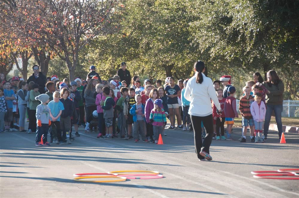 Students participating in Jingle Bell Run