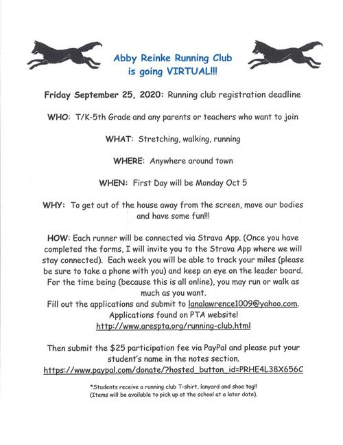abby reinke running club is going virtual