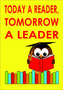 today a reader, tomorrow a leader with an owl