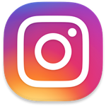 instragram logo, purple and pink with white camera outline