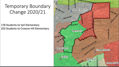 res temporary attendance area map for 2020/21 school year