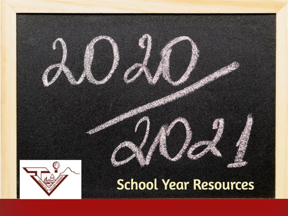 2020 school year resources