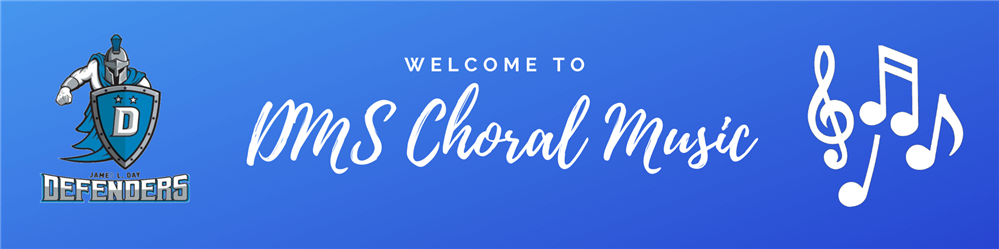 Choral Music Welcome Banner