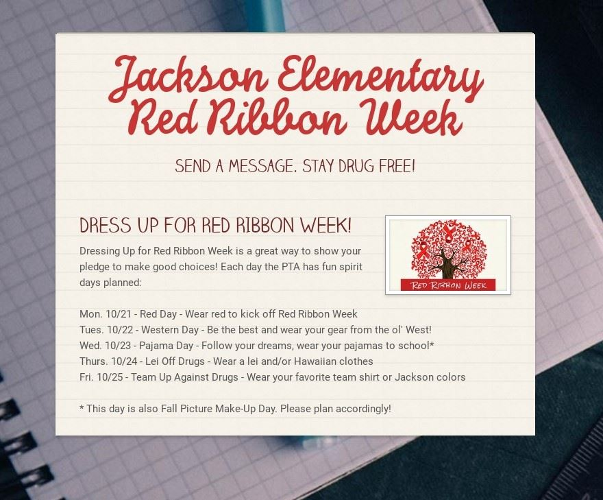Red Ribbon Week Oct 21-25