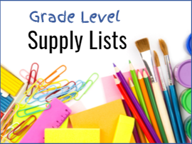 grade level supply lists with pencils crayons paint