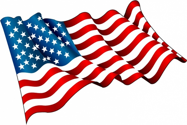 Picture of waving American flag