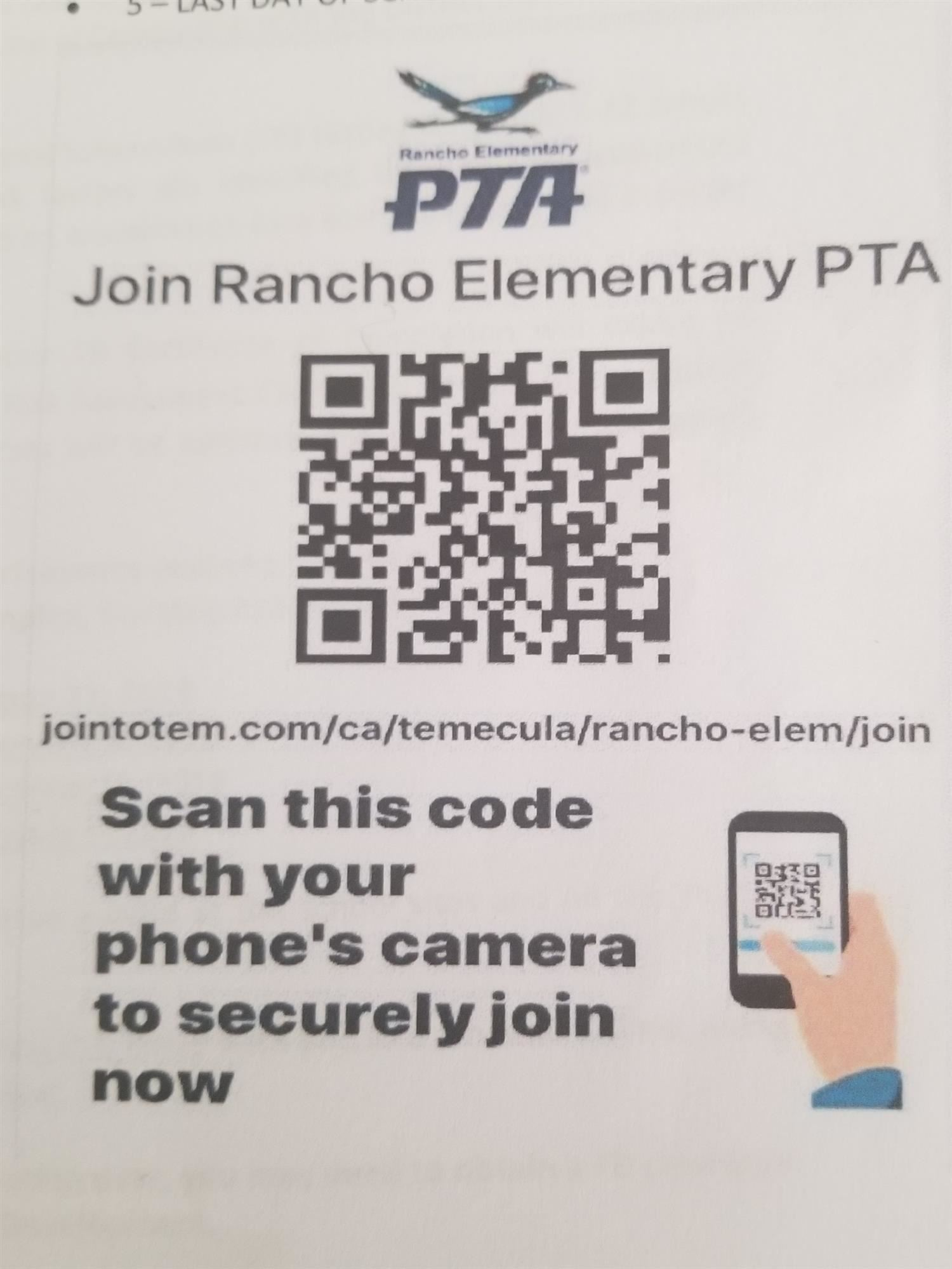 Join PTA Scan Code