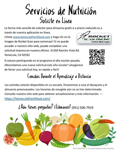 Nutrition Information Spanish