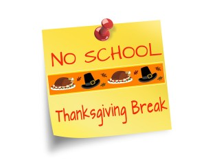 Thanksgiving Break - Nov. 19 to Nov. 23