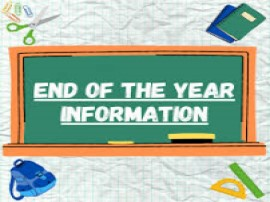 End of the year information clipart