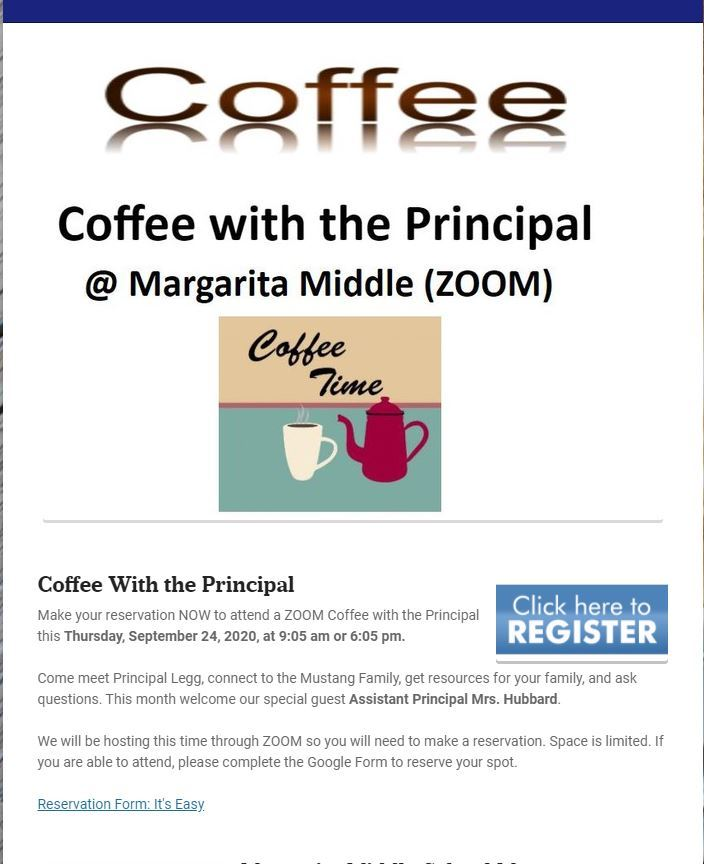 Coffee With the Principal 2-6