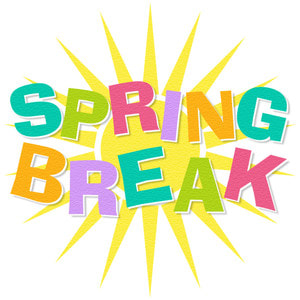 Image stating Spring Break