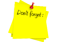 picture of don't forget sticky note