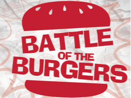 battle of burgers hamburger logo