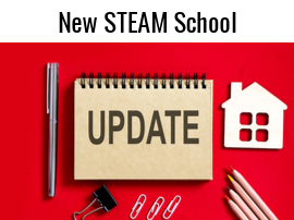 new steam school update with school building