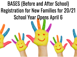 BASES Registration Opens April 6 students finger painted hands