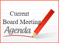 current board meeting agenda posted with pencil
