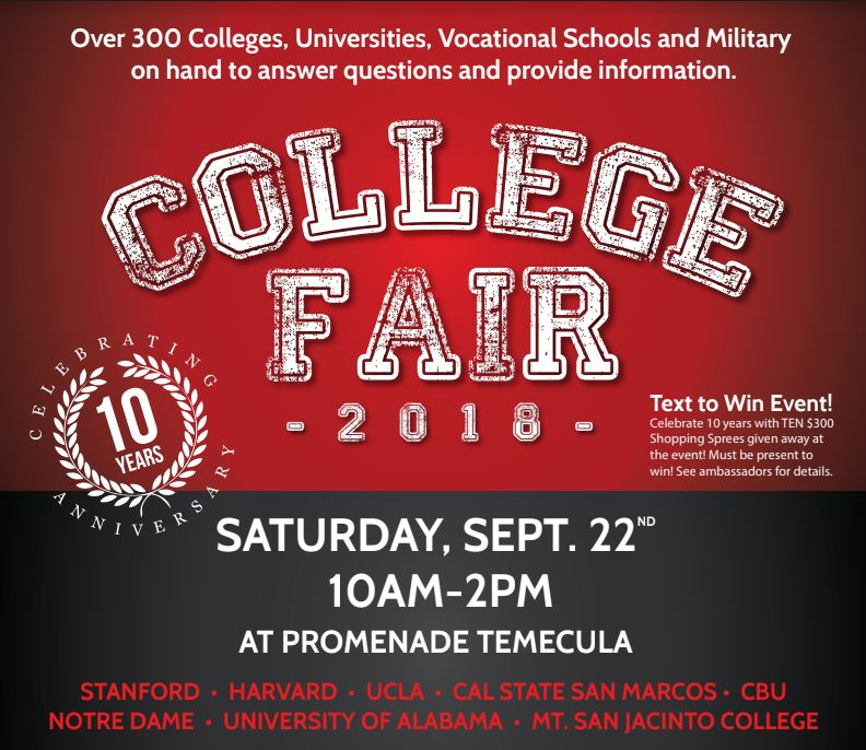 10th annual college and career fair september 22 graphic