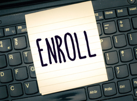 enroll with computer screen