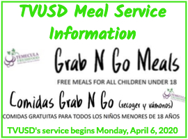 TVUSD meal service program and information