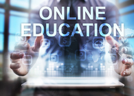 online education computer screen