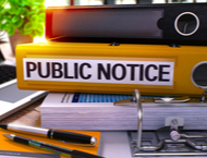 Public Notice with binders