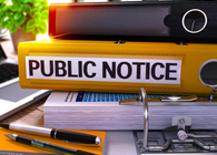 Public Notice with Binder and Books