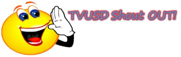 TVUSD shout out graphic