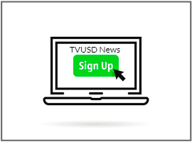 computer screen with sign up for news logo