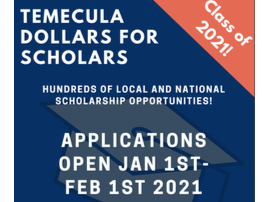 Temecula Dollars for Scholars Applications Open January 1