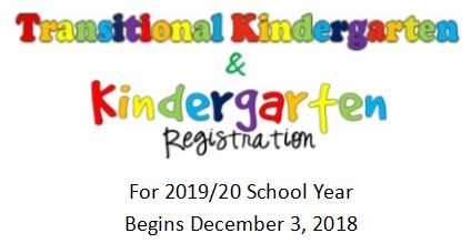Kindergarten Registration Begins December 3, 2018