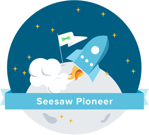 badge seesaw pioneer rocket going into space