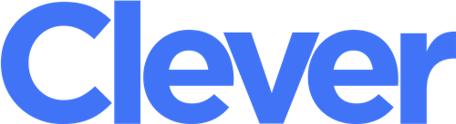 "Blue ""clever"" logo"