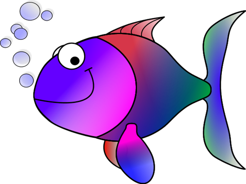 a colorful fish with a smile on its face