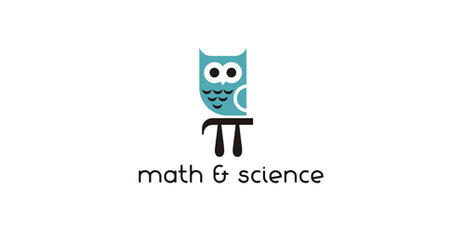 Graphic of an owl with words of math and science