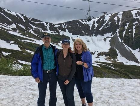 The Rasband family on vacation in Alyeska, Alaska, in 2016