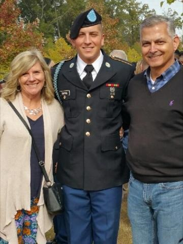 Proud parents of their U.S. Army Boot Camp graduate, Andrew.  November 2016