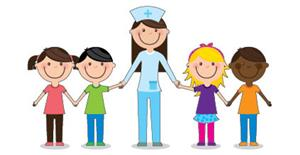 Nurse with kids picture