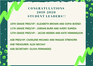 Student council leaders 2019-2020