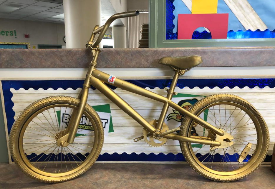This is a picture of the Golden Bike award.
