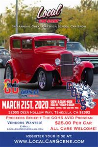 Car Show photo and flyer