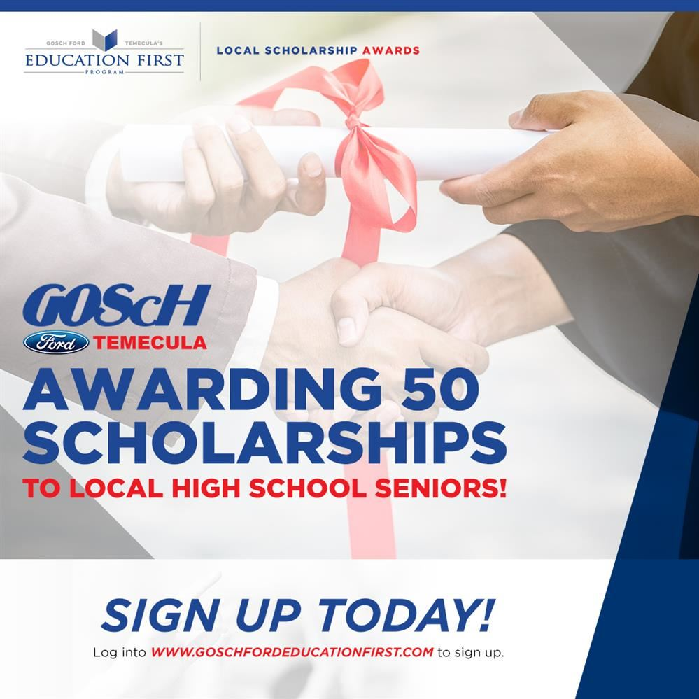 GOScH Ford Temecula Awarding 50 Scholarships to Local High School Seniors