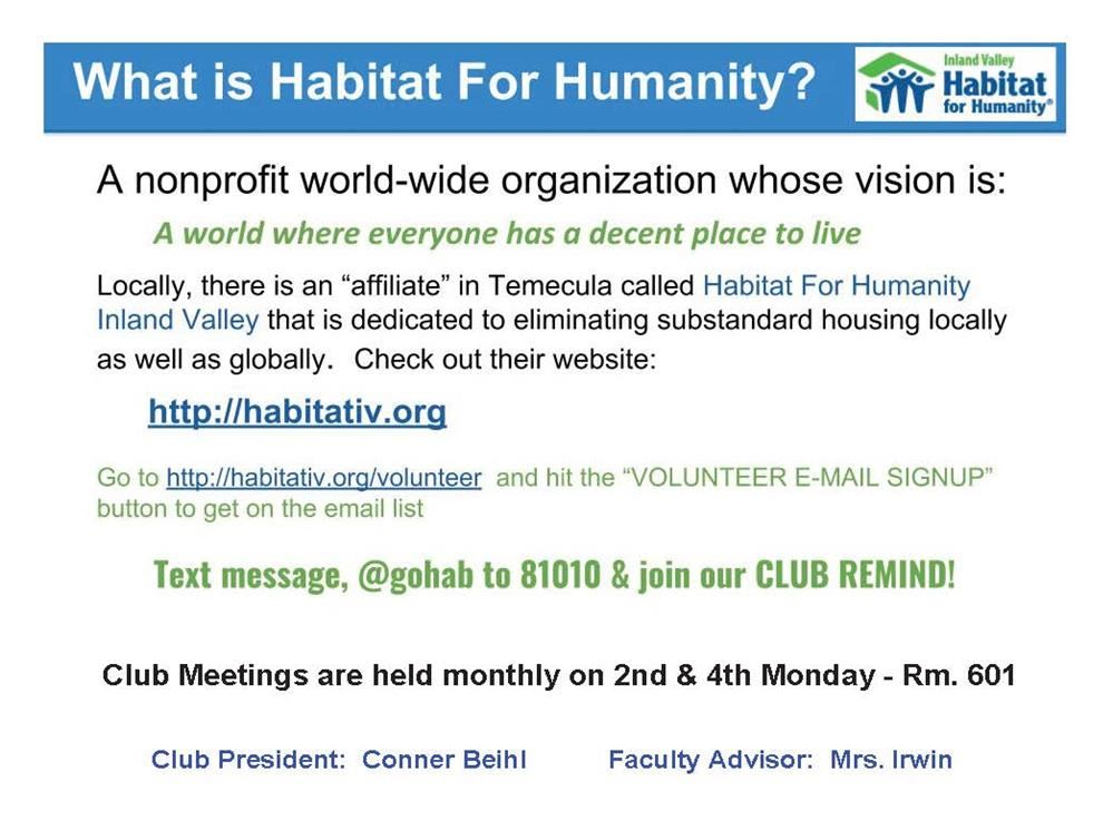 Image of Habitat for Humanity Flyer