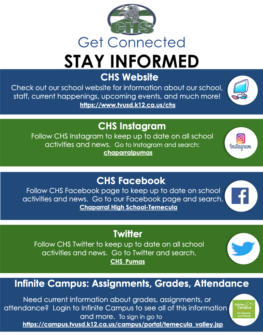 Get Connected with CHS!