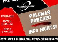 Palomar Powered Info Night flyer