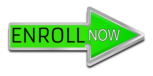 arrow with enroll now